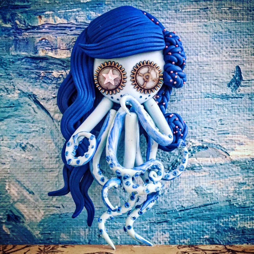Accessoires de maison miss octopus fille poulpe