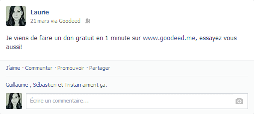 Goodeed sur Facebook