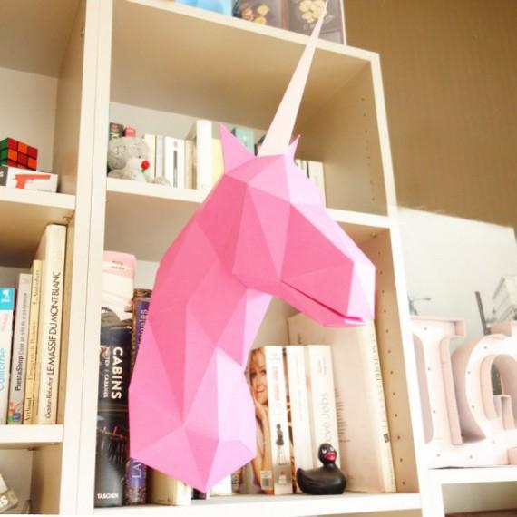 Sculpture en papier diy mallo la licorne
