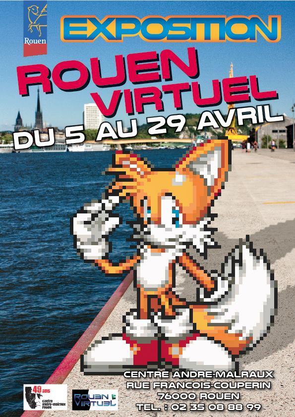 Affiche expo Rouen virtuel