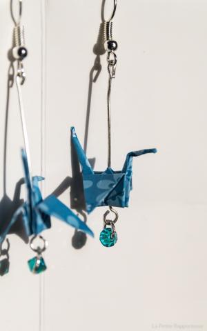 Boucle oreille origami