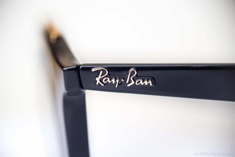 Détails lunettes Rayban