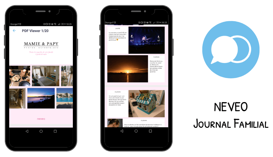 Rendu Album Neveo sur l'application mobile
