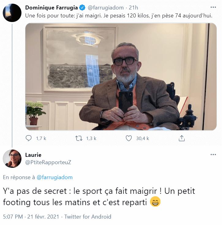 Tweet de Dominique Farrugia